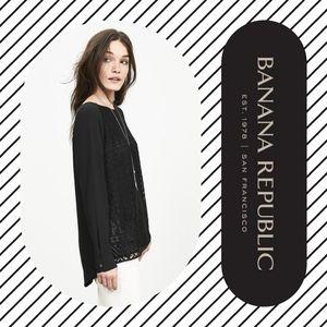BANANA REPUBLIC Lace-Front Blouse